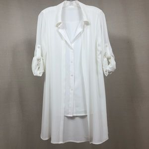 Calvin Klein  2 in 1 White Blouse